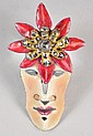JOSEPH GOURDJI ENAMEL ON COPPER PIN W/ DIAMONDS