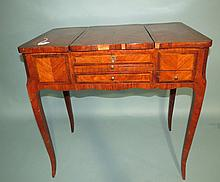 19TH C FRENCH LOUIS XV STYLE FRUITWOOD DRESSING TABLE: