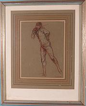 CHARLES HAZELWOOD SHANNON STUDY DRAWING ON PAPER: