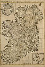 17th Century Map. Jaillot, Alexis Hubert. Le Royaume D'Iralande