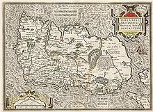 17th Century Map. Ortelius, Abraham. Eryn