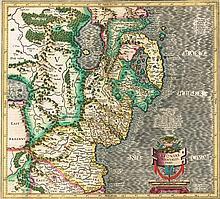Mercator, Gerhard. Ultoniae Orientalis Pars (6)