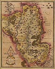 17th Century Map. Mercator, Gerhard. Udrone Irlandia in Catherlagh Baronia.