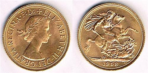 Elizabeth II gold sovereign 1958 (5)