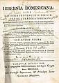Thomas Burke: Hibernia Dominicana sive Historia Provinciae Hiberniae Ordinis Praedicatorum...