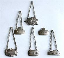 19th century silver decanter labels
