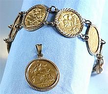 Edward VII to Elizabeth II seven gold half Soveriegns