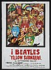 The Beatles Yellow Submarine 1968 film - Spanish film poster and other items.