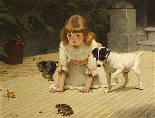 Charles Burton Barber (1845-1894) FRIEND OR FOE?