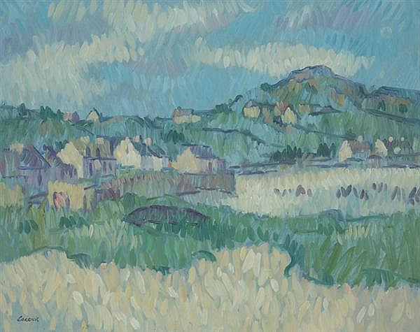 Desmond Carrick RHA (1928-2012) HAIL IN THE WIND, INISHBOFIN ISLAND, COUNTY GALWAY