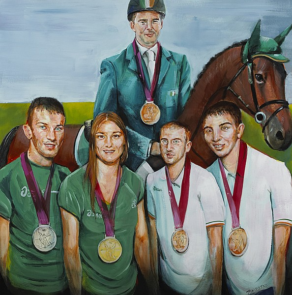 Tom Byrne (b.1962) OLYMPICS MEDALISTS, 2012