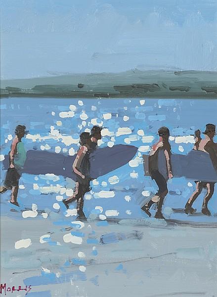 John Morris (b.1958) SURFERS, 2011