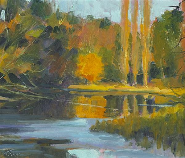 Norman Teeling (b.1944) AUTUMN, THE FURRY GLEN, DUBLIN, 2012