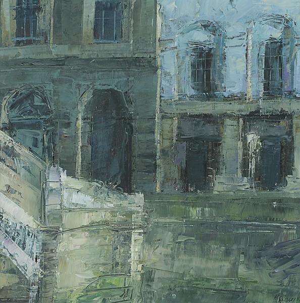 Aidan Bradley (b.1961) HA'PENNY BRIDGE, DUBLIN, 2007