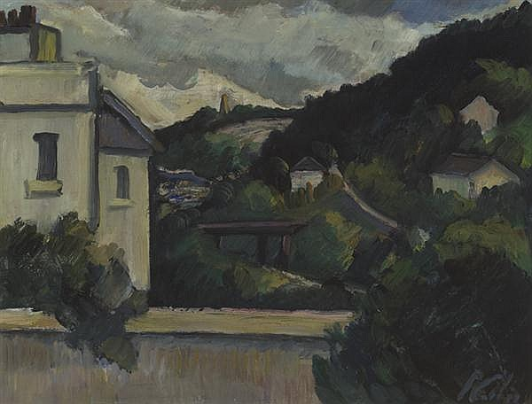 Peter Collis RHA (1929-2012) VICO ROAD FROM SORRENTO TERRACE, DALKEY