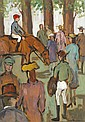 Gladys Maccabe HRUA ROI FRSA (b.1918) BEFORE THE RACE