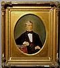 Oval gouache portrait of Dr. Charles E. Cadwalader (1839-1907) great-grandson of General John Cadwalader and eldest son of Judge John Cadwalader. 12.5