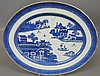 Chinese blue and white porcelain oval Nanking platter, c.1840. 16