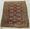 Turcoman oriental mat with overall geometric patterns. 3'10