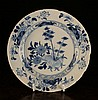 An 18th Century Liverpool Delft Blue & White Plate