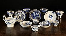 A Small Collection of 18th Century Blue & White Ch