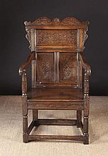 A Small 17th Century Derbyshire Oak Wainscot Chair