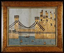 A 19th Century Folk Art Picture composed of Straw
