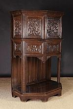 A Fine 16th Century Carved Oak Dressoir of canted
