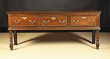 A Good 18th Century Oak Low Dresser.  The two plan