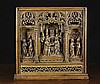 A Fine Early Gothic Oak Retable Carving,