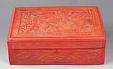 A FINE CHINESE LACQUER JEWELRY BOX