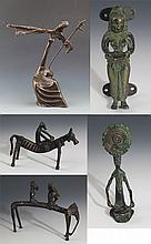 A GROUP OF FIVE FINELY MADE BRONZE MODEL