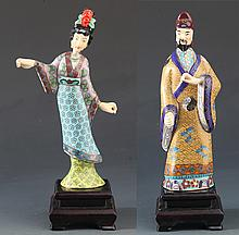 A GROUP OF TWO COLORED BRONZE MODEL