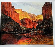 Original Canvas Reproduction #2681 Old Sedona by Jorge Tarallo (N)