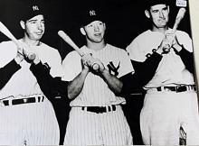 Mickey Mantle, Ted Williams, Joe DiMaggio (N)