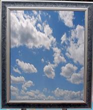 Vintage Framed Glass Mirror (N)