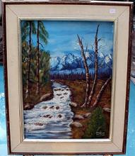 Framed Oil On Canvas (Unknown Artist) (N)