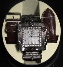 Men's Very Fancy Ice Maxx Watch with exchangable Leather Strap. (414J)