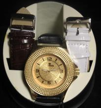 Men's Very Fancy Ice Maxx Watch with exchangable Leather Strap. (415J)