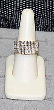 Lady's 18K Over Silver Diamond Ring (31)