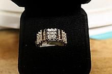 Lady's 18K Over Silver Diamond Ring (33)