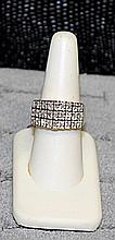 Lady's 18K Over Silver Diamond Ring (40)