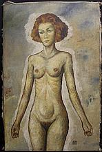 Original/Mixed Media Oil on Canvas By Egon Schiele