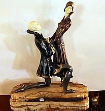 Everlasting Love - Bronze and Ivory Sculpture by Chiparus