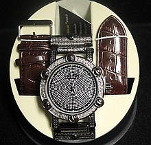Men's Very Fancy Ice Maxx Watch with exchangable Leather Strap. (413J)
