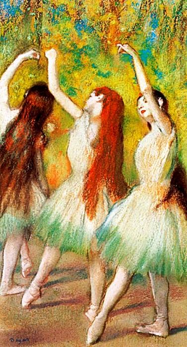 Danseuses Vertes - Edgar Degas - Limited Edition on Canvas