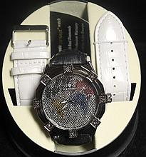 Men's Very Fancy Ice Maxx Watch with exchangable Leather Strap. (418J)