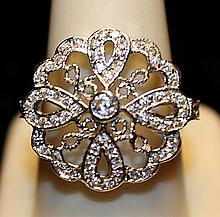 Gorgeous White Zirconia Sterling Silver Ring. (783L)