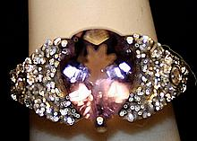 Gorgeous Tanzanites Sterling Silver Ring. (240L)