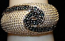 Gorgeous Marcasite & Black Diamonds SS Ring. (162L)